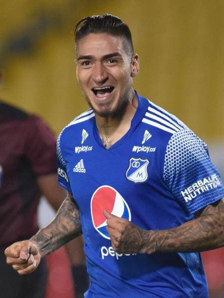 Arango é um dos principais destaques do Millonarios em 2021 - Guillermo Legaria/POOL/AFP