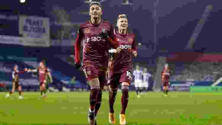 Raphinha comemora gol marcado pelo Leeds - Divulgação/Leeds - Divulgação/Leeds