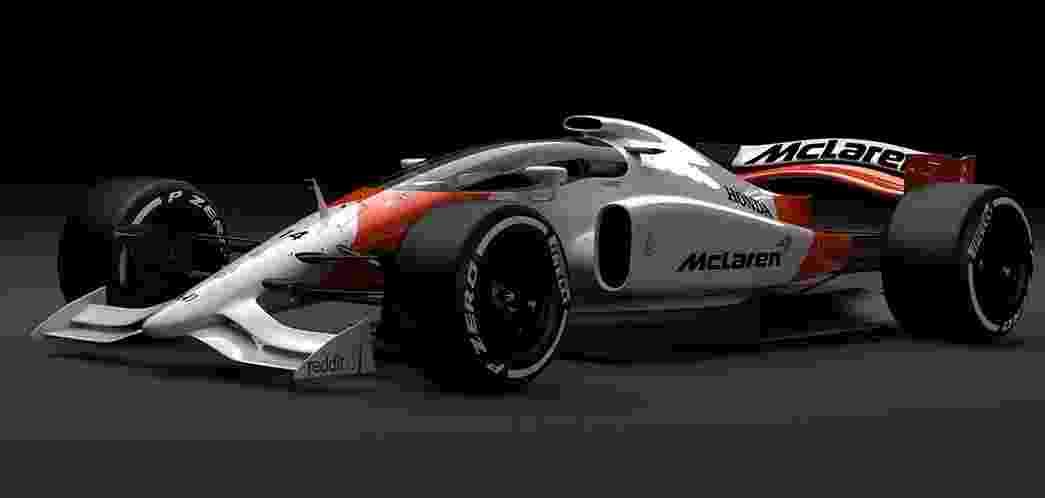 Carro conceito da McLaren com cockpit coberto - McLaren/Divulgação