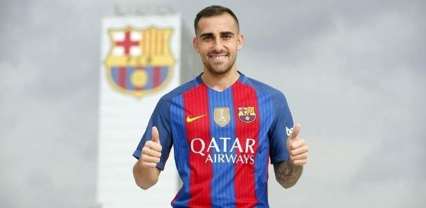 Alcácer foi oficializado pelo Barcelona