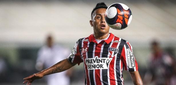 Peruano Cueva tem sido destaque do São Paulo - Ricardo Nogueira/Folhapress