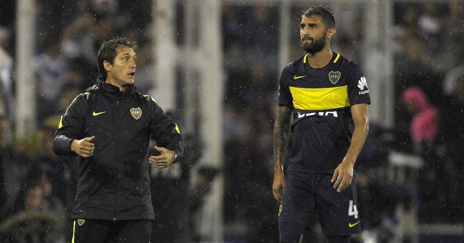 Guillermo Barros Schelotto, técnico do Boca Juniors, está na mira da AFA