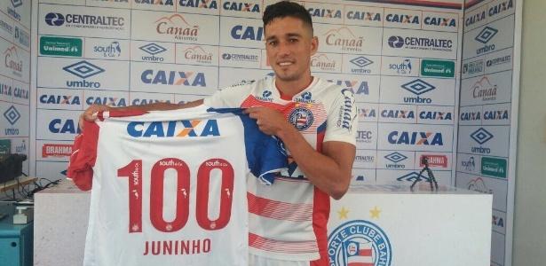 Juninho marcou 16 gols em 99 jogos pelo Bahia