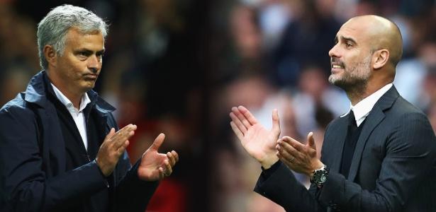Guardiola e Mourinho são rivais históricos; no domingo, City saiu vitorioso