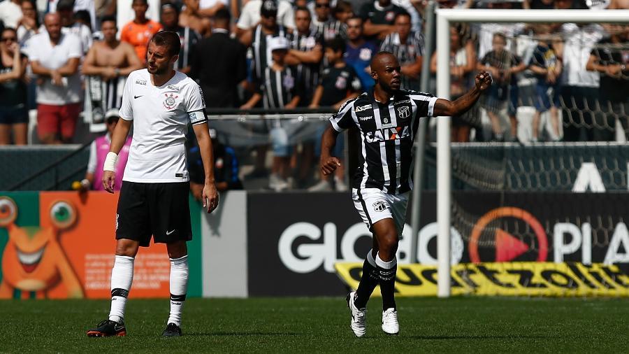 Wescley marcou um golaço contra o Corinthians no ano passado - Marcello Zambrana/AGIF