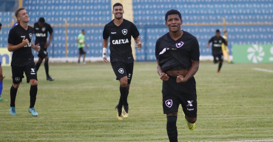 Rhuan comemora gol do Botafogo na Copa São Paulo