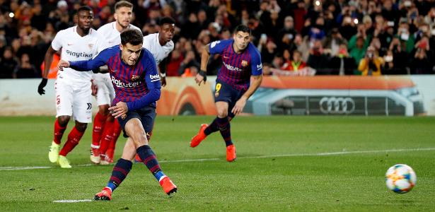 Decisivo em campo, brasileiro marcou duas vezes para o Barcelona - Albert Gea/Reuters