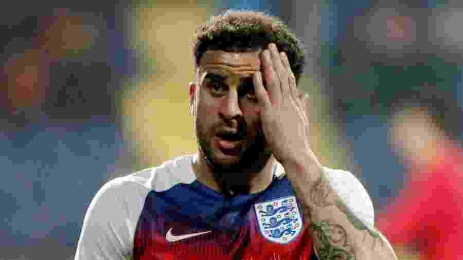O lateral Kyle Walker, do Manchester City, estaria fora dos planos do técnico Southgate para a Seleção Inglesa - Stevo Vasiljevic/Reuters