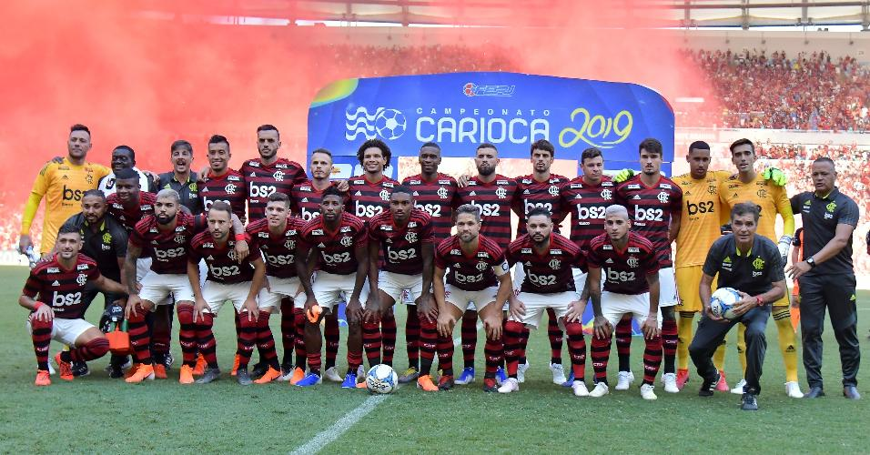 388f094bc Jogadores do Flamengo na decisão do Campeonato Carioca 2019