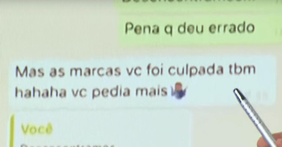 Neymar e Najila trocam mensagens pelo WhatsApp