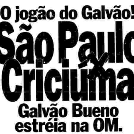 Folha de S. Paulo em 1º de abril de 1992 anunciou estreia na Rede OM - Reprodução