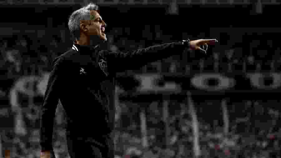 Rodrigo Santana, técnico do Atlético-MG, cobra melhora do elenco nas finalizações - Bruno Cantini/Atlético-MG