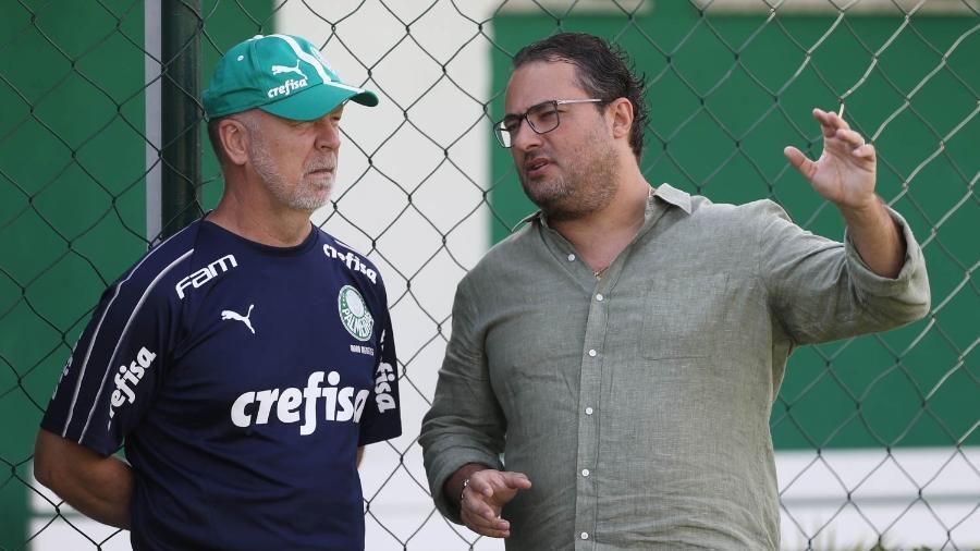 Mano Menezes e Alexandre Mattos foram demitidos do Palmeiras - Cesar Greco/Ag. Palmeiras/Divulgação