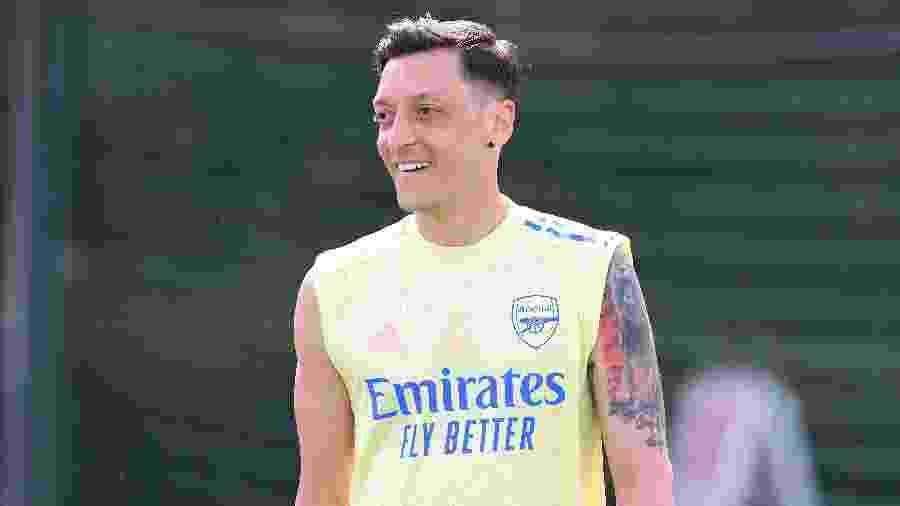 Mesut Ozil, do Arsenal, foi assunto da entrevista coletiva do técnico Arteta - Stuart MacFarlane/Arsenal FC via Getty Images