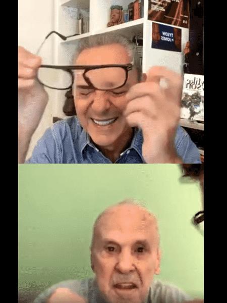 Luis Roberto se emociona após aparição surpresa de Éder Jofre em entrevista - Reprodução