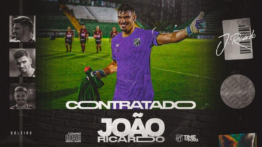 Goleiro João Ricardo é anunciado pelo Ceará com contrato até 2022 - Do UOL, em São Paulo