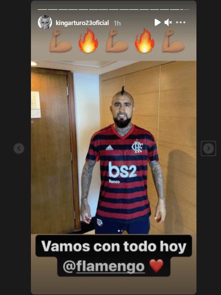 Arturo Vidal mostra torcida pelo Flamengo - Reprodução/Instagram