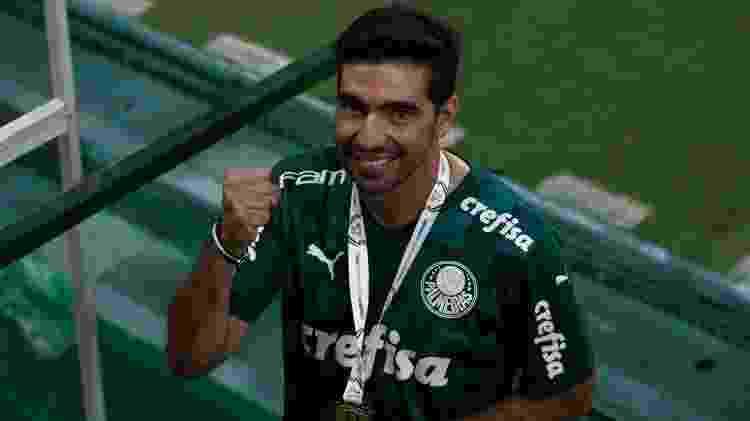 Abel Ferreira comemora após Palmeiras vencer a Copa do Brasil - Ettore Chiereguini/AGIF - Ettore Chiereguini/AGIF