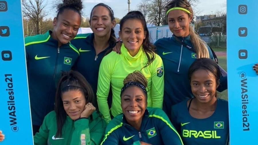 Revezamento 4x100m do Brasil - Reprodução/Instagram
