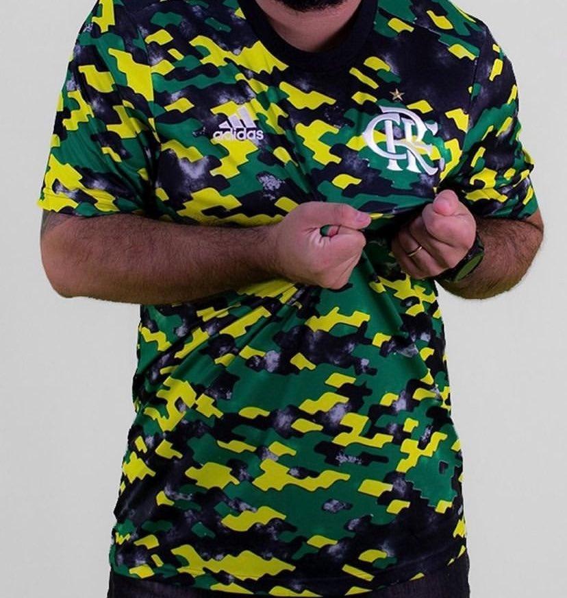 Nova camisa pré-jogo do Flamengo