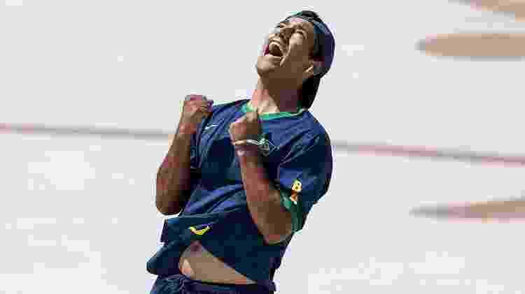 Brasileiro Kelvin Hoefler competindo na final do skate em Tóquio - Dan Mullan/Getty Images - Dan Mullan/Getty Images