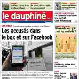 """Le Dauphiné (Grenoble, França): """"Chantagem contra Valbuena: Benzema em prisão preventiva para explicar"""" - Reprodução"""