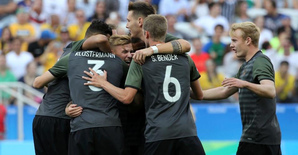 Alemanha abriu o placar nos minutos iniciais da partida
