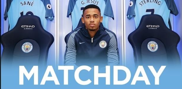 Reprodução - Gabriel Jesus - Manchester City