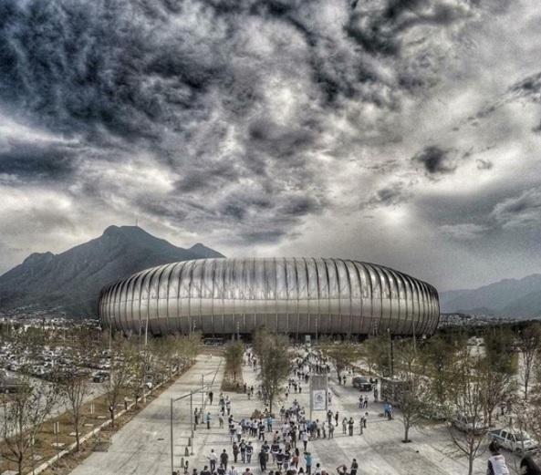 Estádio BBVA Bancomer, na região metropolitana de Monterrey, no México