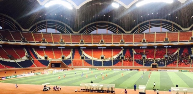 Jogo entre Bengaluru e April 25 aconteceu no May Day Stadium, em Pyongyang - Reprodução/Twitter Bengaluru FC