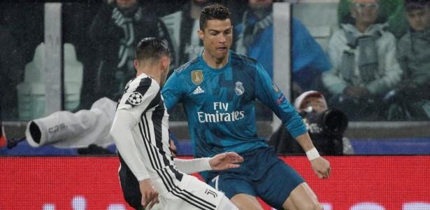 Cristiano Ronaldo em ação pelo Real Madrid durante jogo com a Juventus