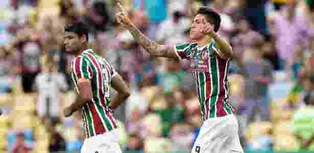 Pedro em ação pelo Flu no Maracanã; clube fechou acordo sócioambiental - Thiago Ribeiro/AGIF