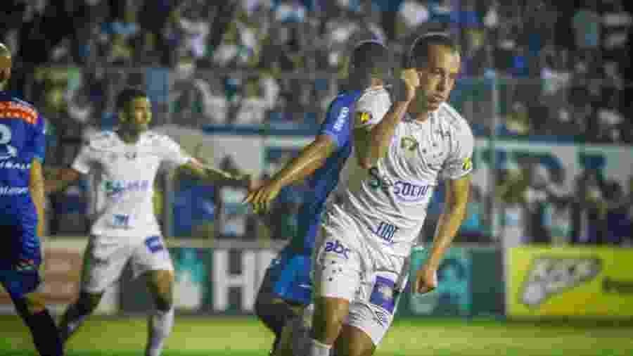 Rodriguinho comemora gol do Cruzeiro diante da URT no Campeonato Mineiro 2019 - Vinnicius Silva/Cruzeiro