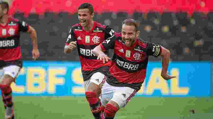 Everton Ribeiro, do Flamengo, comemora gol sobre o Fortaleza - Alexandre Vidal / Flamengo