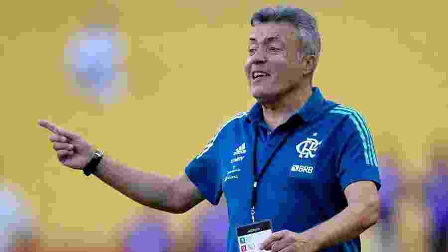 Domenec comanda o Flamengo em jogo contra o Barcelona de Guayaquil pela Copa Libertadores 2020 - RODRIGO BUENDIA / POOL / AFP