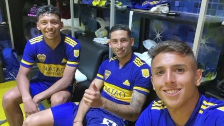 Medina, Varela e Almendra, revelações do Boca Juniors - Reprodução Instagram