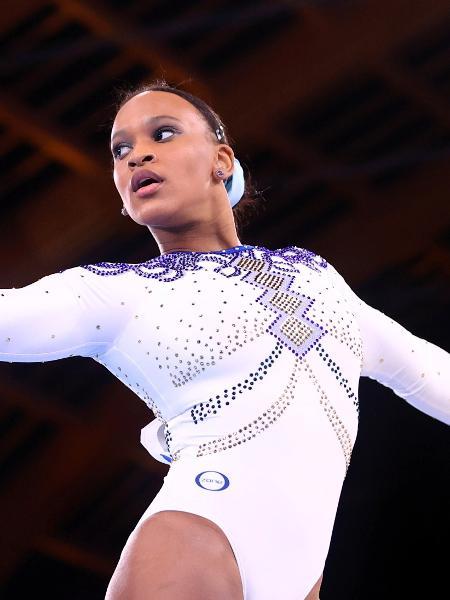Rebeca Andrade durante apresentação nas Olimpíadas - Lindsey Wasson/Reuters