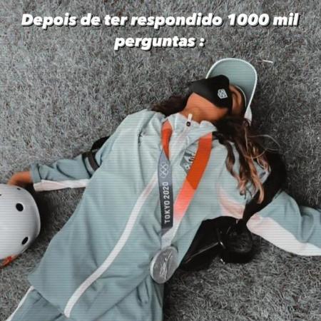 Rayssa Leal brinca estar cansada após entrevistas  - Reprodução