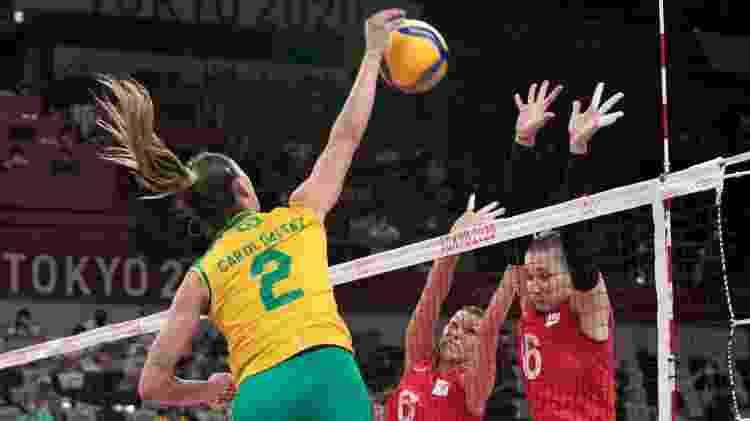 Carol Gattaz ataca para o Brasil diante do bloqueio do Comitê Olímpico Russo no vôlei feminino - Julio César Guimarães/COB - Julio César Guimarães/COB