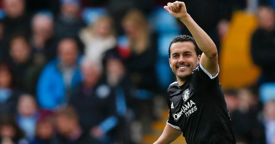 Pedro Rodríguez comemora após marcar gol para o Chelsea
