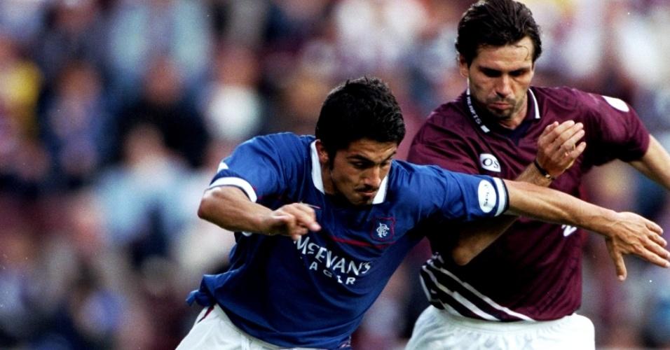 Gattuso em ação pelo Glasgow Rangers