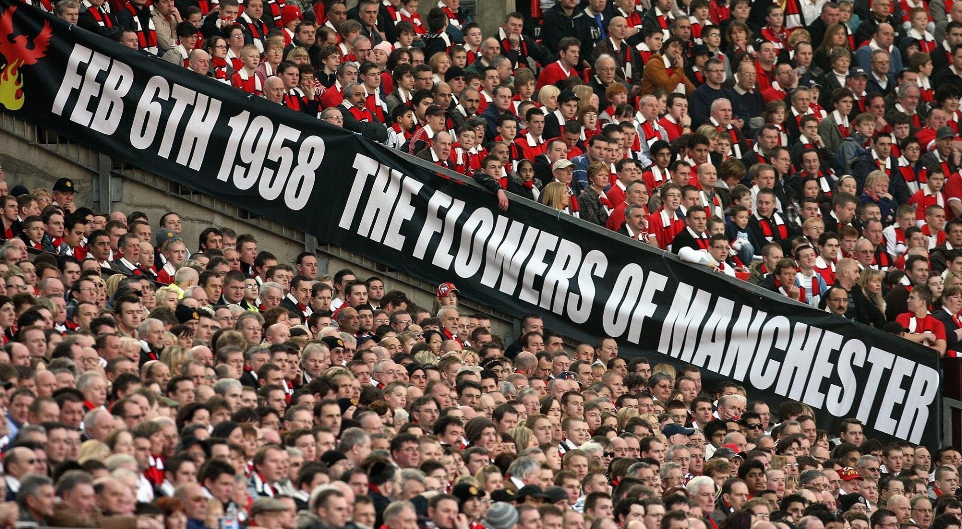 Em 2008, torcedores lembraram dos 50 anos do acidente aéreo com o Manchester United
