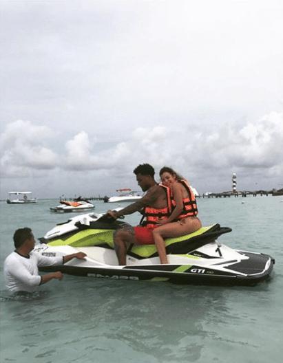 Kâzim, do Corinthians, e sua família curtem as paradisíacas paisagens de Cancun (MEX).
