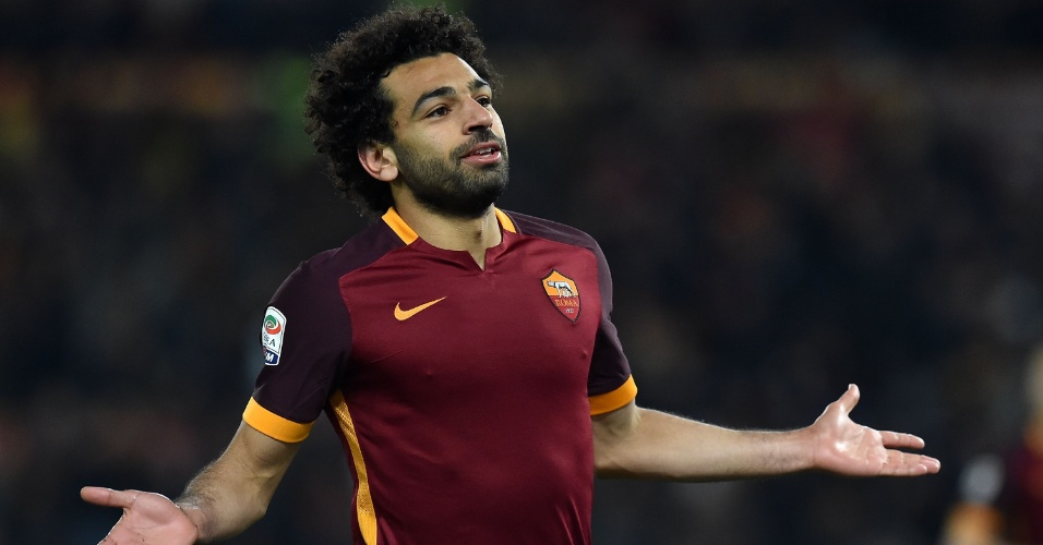 Mohamed Salah virou um jogador de primeiro nível na Europa jogando pela Roma, com gols e assistências
