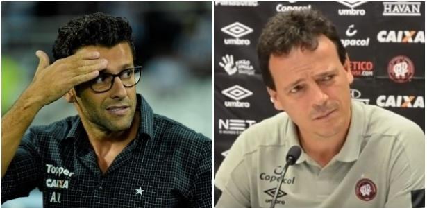 Alberto Valentim e Fernando Diniz estão questionados em Botafogo e Atlético-PR