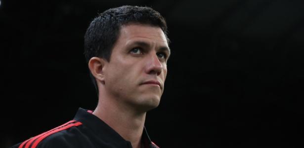 Maurício Barbieri, técnico do Flamengo, durante o jogo contra o Cruzeiro - Gilvan de Souza / Flamengo