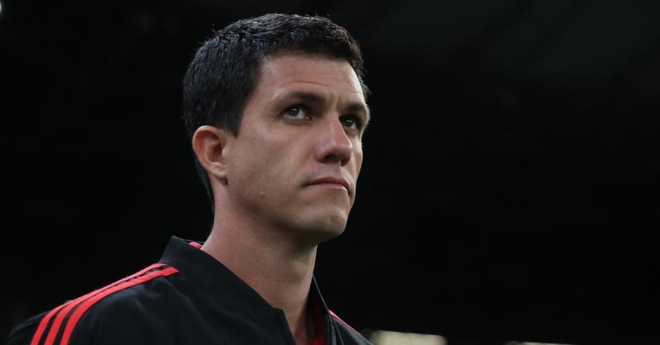 Mauricio Barbieri, técnico do Flamengo, durante jogo contra o Cruzeiro