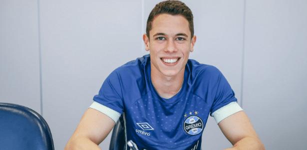 Brenno, goleiro do Grêmio, renovou seu contrato até 2021 e está inscrito na Libertadores - Lucas Uebel/Grêmio