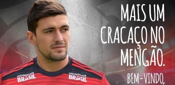 Flamengo anunciou a contratação depois de vencer o Eintracht Frankfurt pela Florida Cup - Divulgação/CR Flamengo
