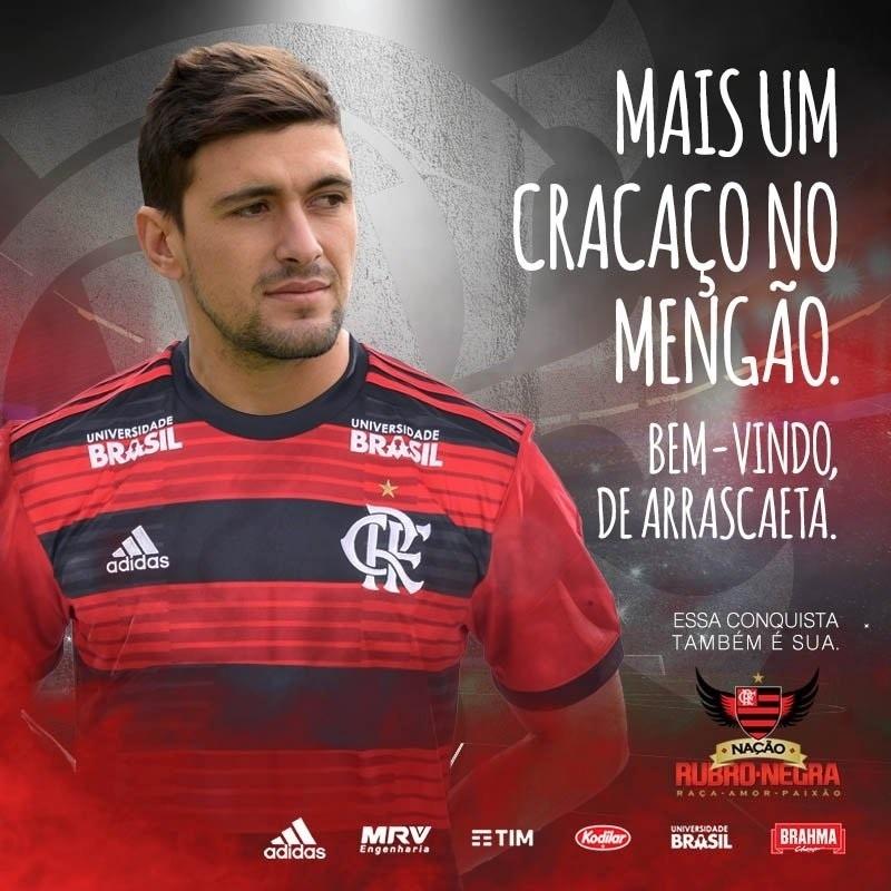 De Arrascaeta Flamengo anúncio